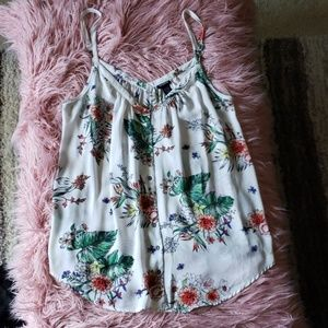 TORRID White and Floral Top